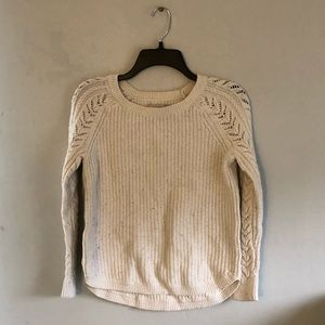 LOFT White Knit Sweater